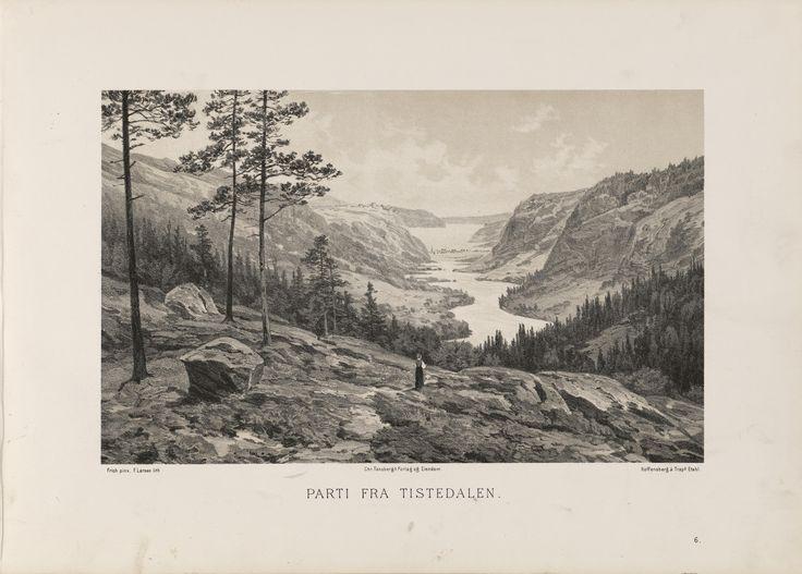 Norge fremstillet i Tegninger - Joachim Frich - Parti fra Tistedalen. jpg (6088×4360)
