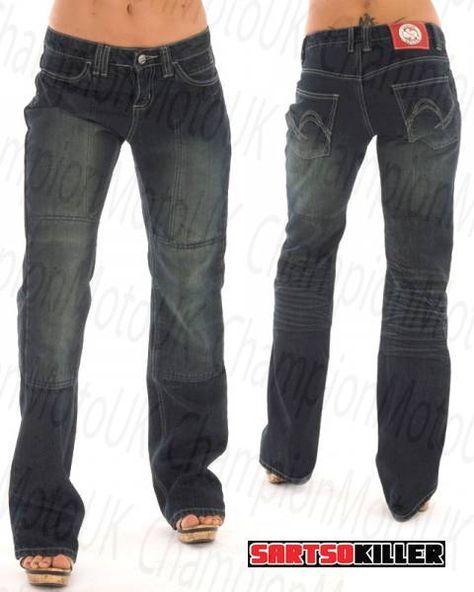 women's kevlar motorcycle jeans   Sartso Killer Jade Ladies Kevlar Reinforced Motorcycle Jeans