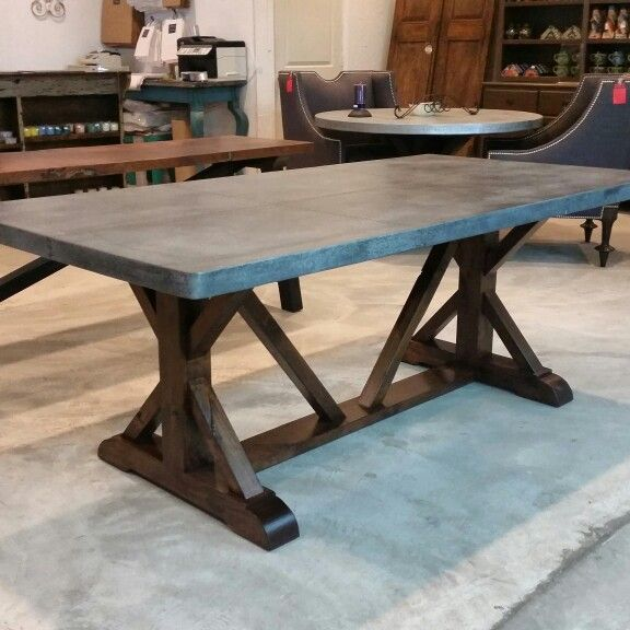 Zinc Farmhouse Dining Table De Barrio Antiguo In Houston Texas 725 Yale St 77007 713