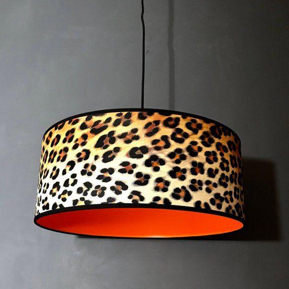 Animal Print Tiger Lamp//Ceiling Shade