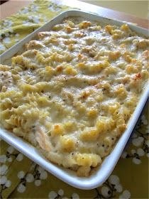 Recipes, Dinner Ideas, Healthy Recipes & Food Guide: Baked Cheesy Chicken Pasta