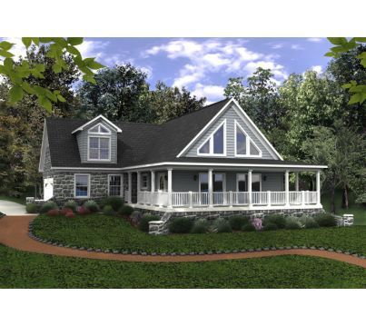 The South Port (w/ log package) | Allen Home Builders, Inc ...