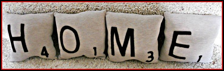 M-A-M-A-W for Christmas!!!!!!!!!!!!!!!!!! What do you think @Elaine Fleming: Pillows Fight, Tile Pillows, Crafts Ideas, Gifts Ideas, Scrabble Pillows, Scrabble Tiles, Homes, New Baby, Housewarming Gifts