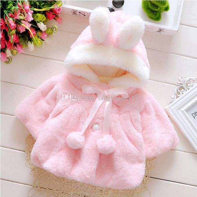 Image result for infant girl faux fur coat, Baby Infant Girls Fur Winter Warm Coat Cloak Jacket Thick Warm Clothes Baby Girl Cute Hooded Long Sleeve Coats Girls Faux Fur Jacket Girl Fleece Coat Baby ...