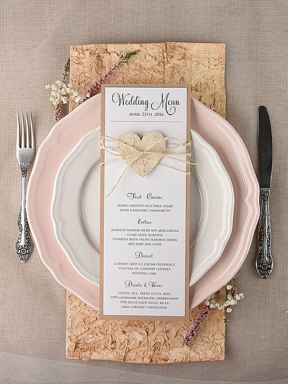 ♥-Rustic Wedding Set-♥------------------------------- The wedding set includes: (10) Wedding Menu 6x 8, 240 lb