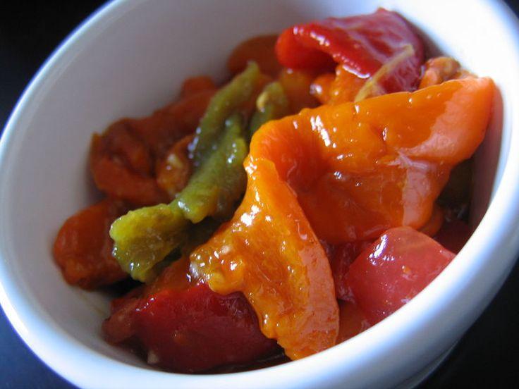 Salade colorée de poivrons grillés
