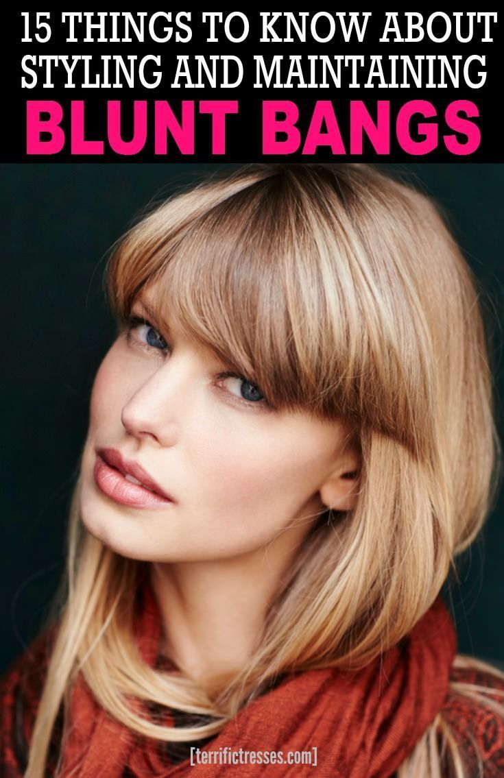 love your blunt bangs but hate styling them? they can be