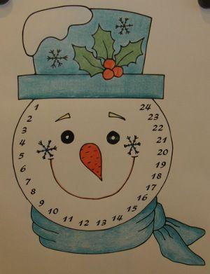 Adventný kalendár - snehuliak