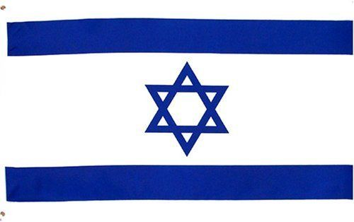 """Israel National Country Flag - 3 foot by 5 foot Polyester (New) by Country Flags """"H-L"""". $4.82. FAST SHIPPER: Ships in 1 Business Day; usually the Same Day if pmnt clears by noon CST. 2 Metal Grommets For Eash Mounting with Canvas Hem for long lasting strength. 3 Foot by 5 Foot, Indoor-Outdoor, Lightweight Polyester Flag with Sharp Vivd Colors. Express Domestic Shipping is OVERNITE 98% of the time, otherwise 2-day.. Express International Shipping is Global Express..."""