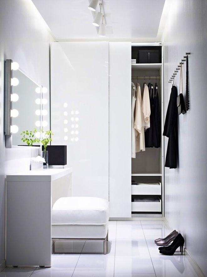 Closet space in black and white. via habitualbliss