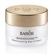 Babor Skinovage PX Sensational Eyes Reactivating Eye Cream 15 ml by Babor. Save 20 Off!. $44.80. conceals wrinkles and lines. Babor Reactivating Eye Cream. for wrinkles and dark circles. BaborSkinovage PX Sensational Eyes Reactivating Eye Cream(15 ml)Benefits Rich eye cream specifically formulated for dark circle and wrinkles in the eye areaThis cream absorbs quickly and plumps up wrinkles and lines from the inside to conceal visible wrinklesMinimizes dark eye rings and shadowsPlumps up ...