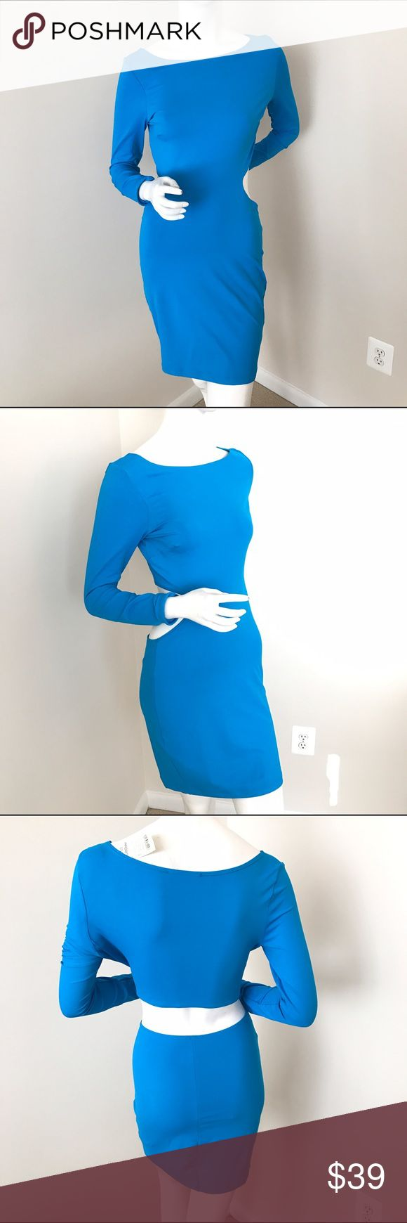 NWT Sexy Long Sleeve Backless Bodycon Dress!! This super sexy dress will be great for a party or girls night out! Side cut outs continue around to an open back. Bodycon style is fitted, but stretchy. Arden B Dresses
