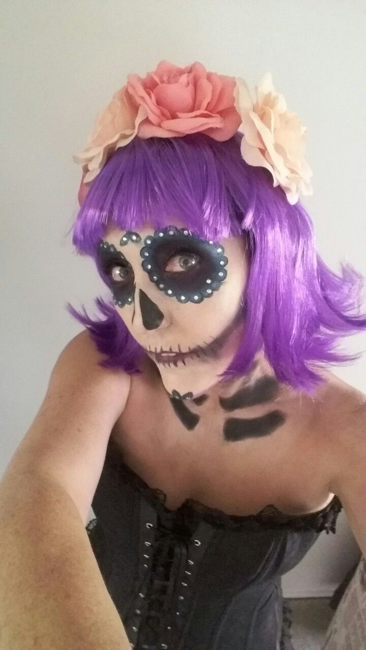 Day of the dead sugar scull inspired costume