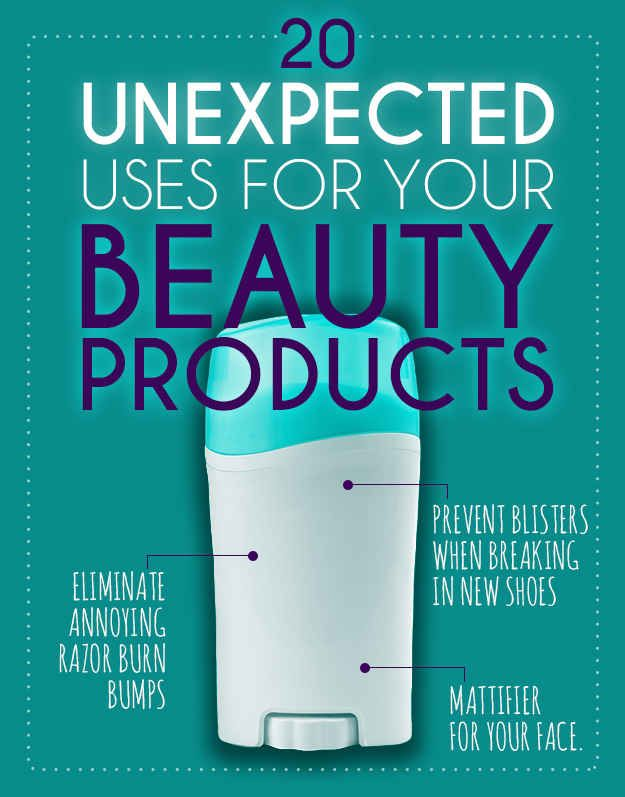 20 Unexpected Uses For Your Beauty Products