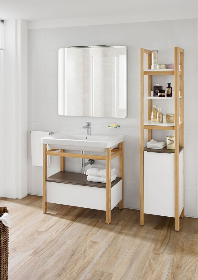 Les 25 meilleures id es concernant lavabo de colonne sur for Salle de bain nordique
