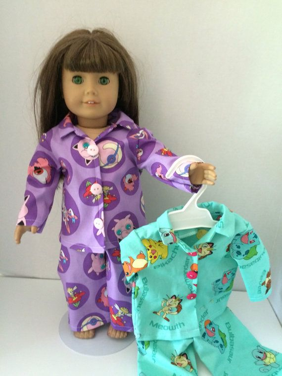 Pokemon Pajamas in two different colors purple by DistinctiveDoll