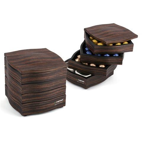 Legnoart - My Coffee Ebony Coffee Capsule Storage Cube