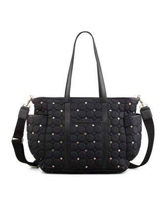 Marissa Quilted Diaper Bag, Black  by Rebecca Minkoff at Neiman Marcus.