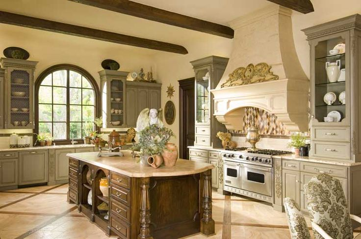 French kitchen designed by Tracy Rasor, Dallas Design Group Interiors, and built by Sharif and Munir Custom Homes on Walnut Hill in Dallas, TX.