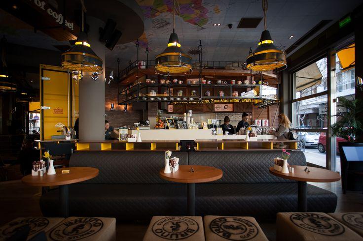 Bruno Coffee Stores-Larisa Greece -by Dimitris Koukoydis Architect