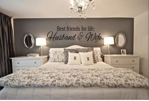 BEST FRIENDS FOR LIFE HUSBAND & WIFE Wall Art For Couples Bedroom Decal Quote Words Lettering Decor - Priced to Love - 1