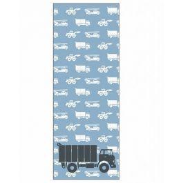 Behang paneel met stoere vrachtwagens.