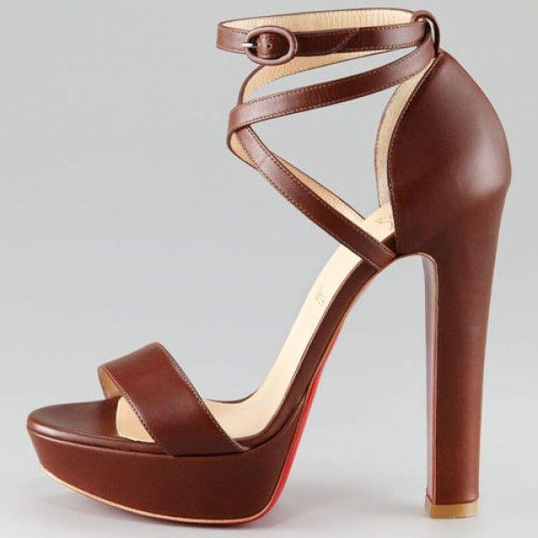 Summerissima 140mm Leder Sandalen Braun Online-Verkauf sparen Sie bis zu 70% Rabatt, einfach einkaufen und versandkostenfrei.#shoes #womenstyle #heels #womenheels #womenshoes  #fashionheels #redheels #louboutin #louboutinheels #christanlouboutinshoes #louboutinworld