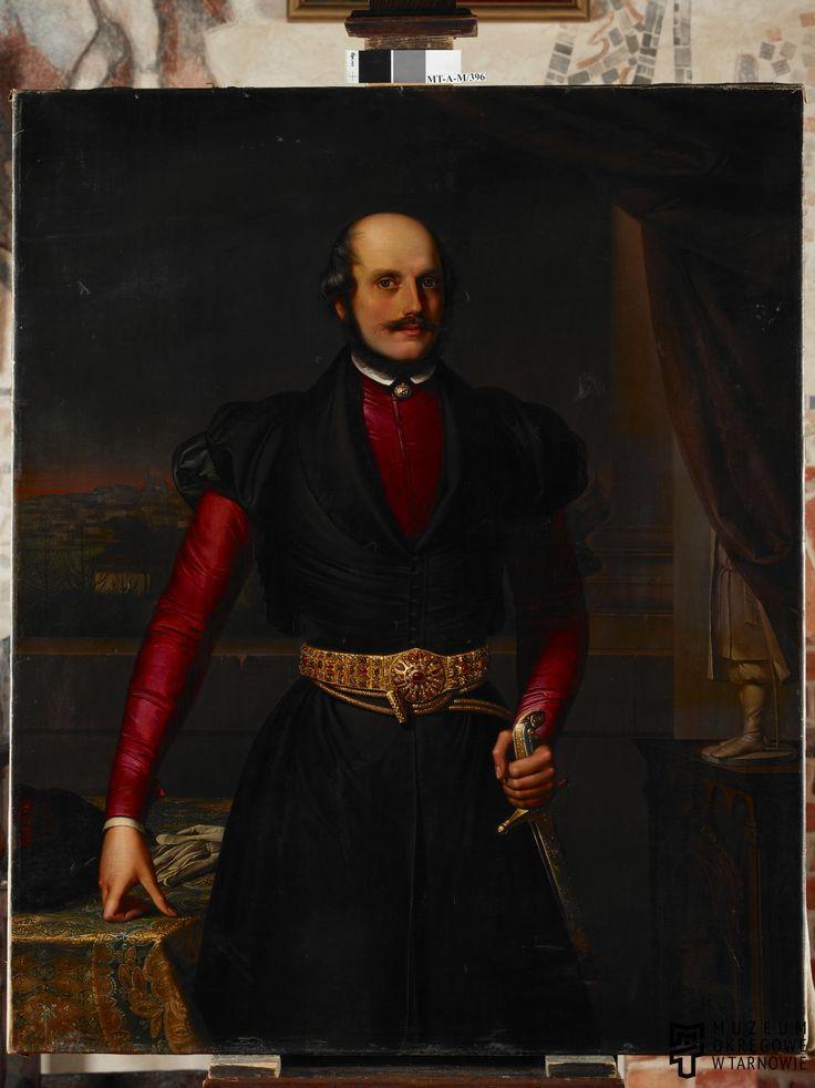 Battig, Giuseppe Giacomo (1820-1852) | Portret Władysława Sanguszki (1803-1870)