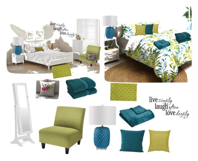 Easy Bedroom Makeover by jensmum on Polyvore featuring polyvore, interior, interiors, interior design, home, home decor, interior decorating, Safavieh, John Robshaw, Northpoint, Baxton Studio and bedroom