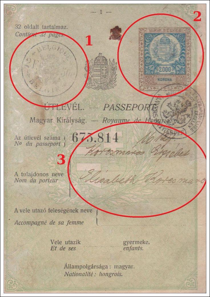 Visas from an old Hungarian Passport