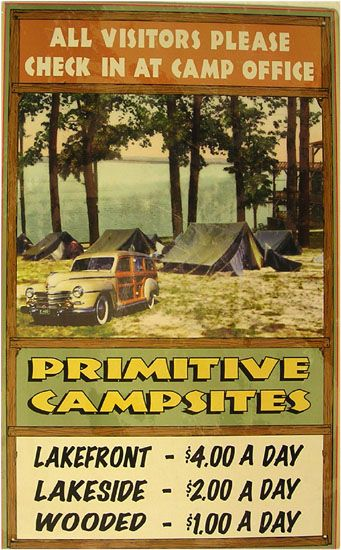 Primitive Campsites | Camping / Lodges | Tin Signs | American Heritage Tin Sign Factory | Tin Signs Americana | Soda Tin Sign | Automotive Tin Signs | Vintage Tin Sign