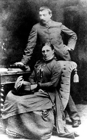 Paul Gauguin and wife Mette, Copenhaguen, 1885