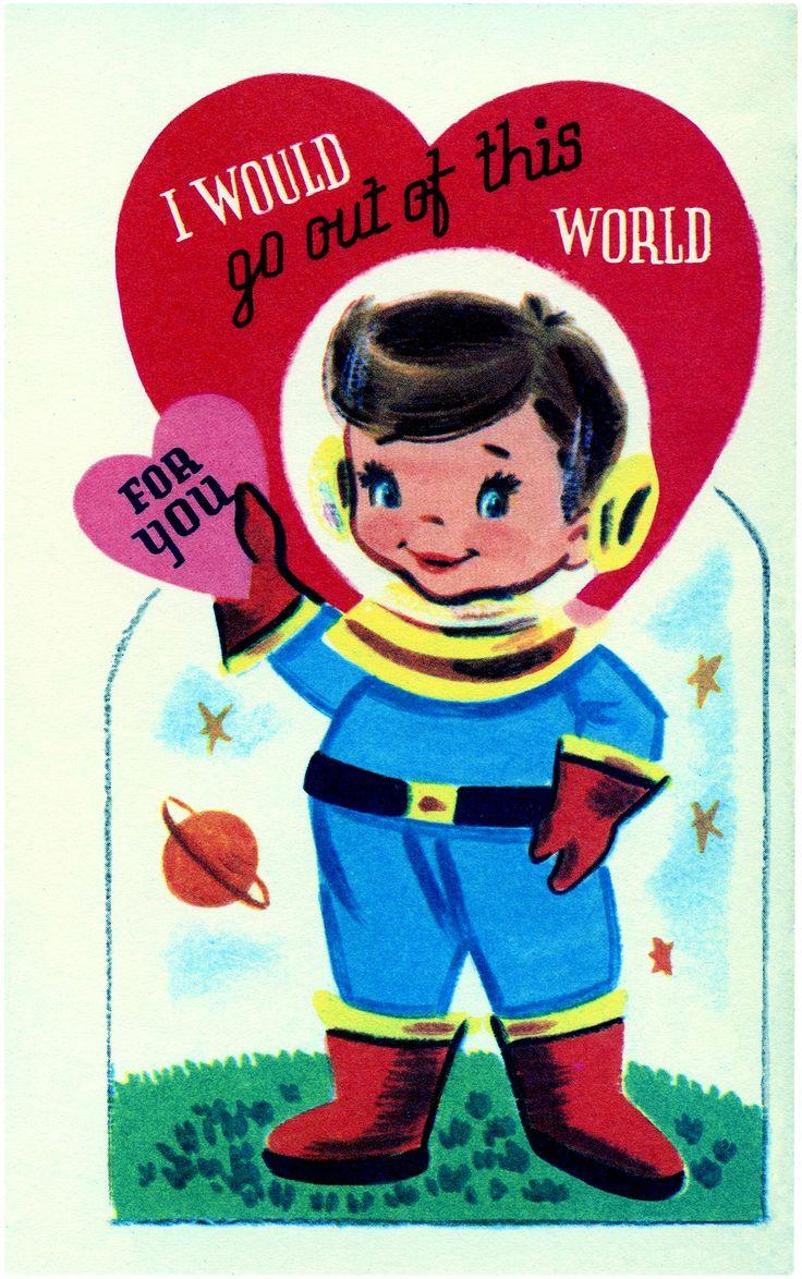 Retro Astronaut Image - Adorable! - The Graphics Fairy