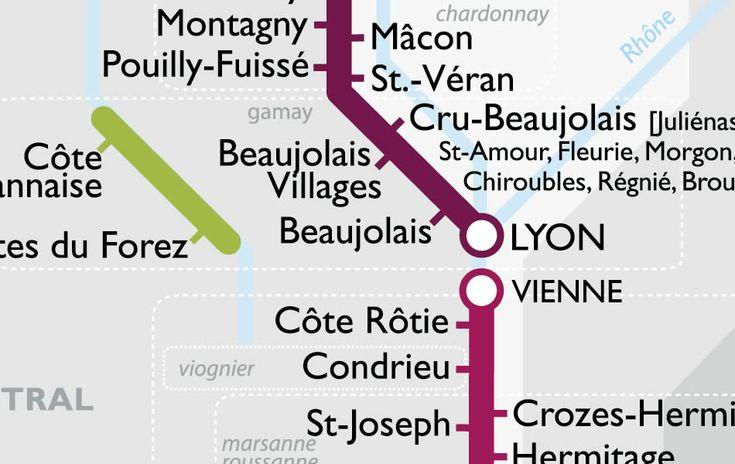 carte des vins france - Crée par l'historien et passionné de vins David Gissen, cette carte est un bon moyen de mieux visualiser les régions et appellations.On se balade de lignes en station, de beaujolais en muscadet, tout en respectant la sécurité routière puisqu'on est dans le métro :)