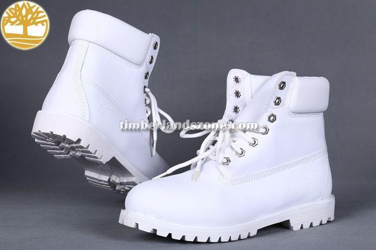 Cheap Timberland Men's Classic 6-Inch Boots Waterproof All White With Lace Hole $ 83.99