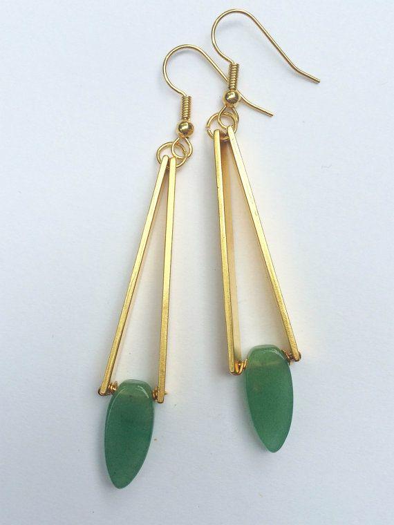 Clean Slate Earrings // Elizabeth Volk Design $68