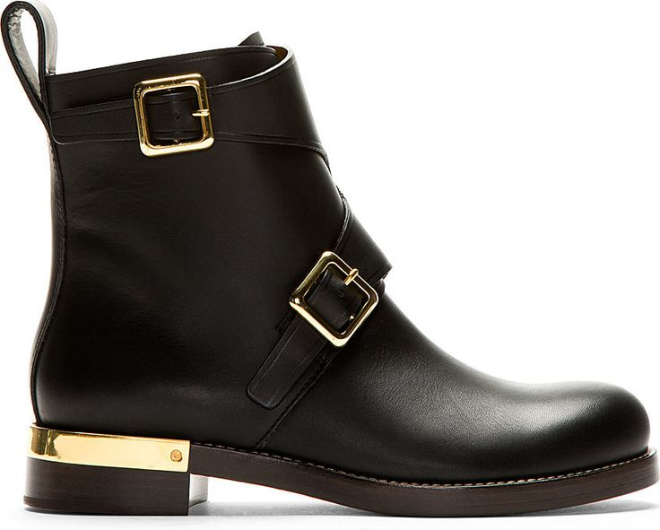 Chloé - Black Leather Ankle Boots   SSENSE