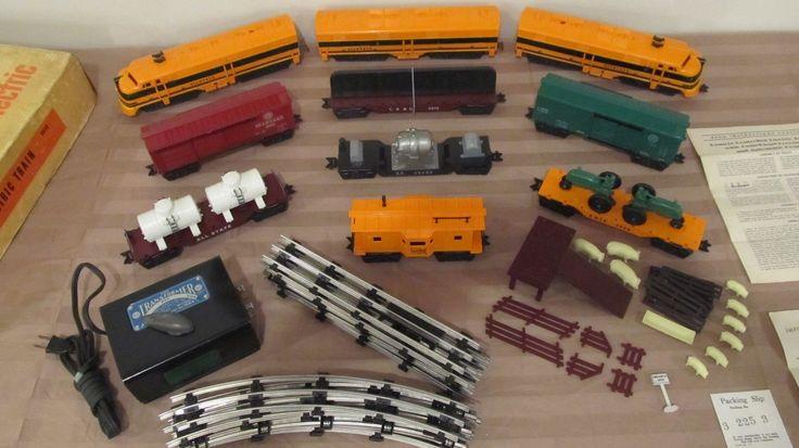 Postwar Louis Marx Plastic Train Sets & Great American Railroads | eBay