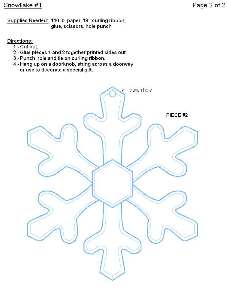 printable snowflakes | FREE Printable Paper Snowflake Templates