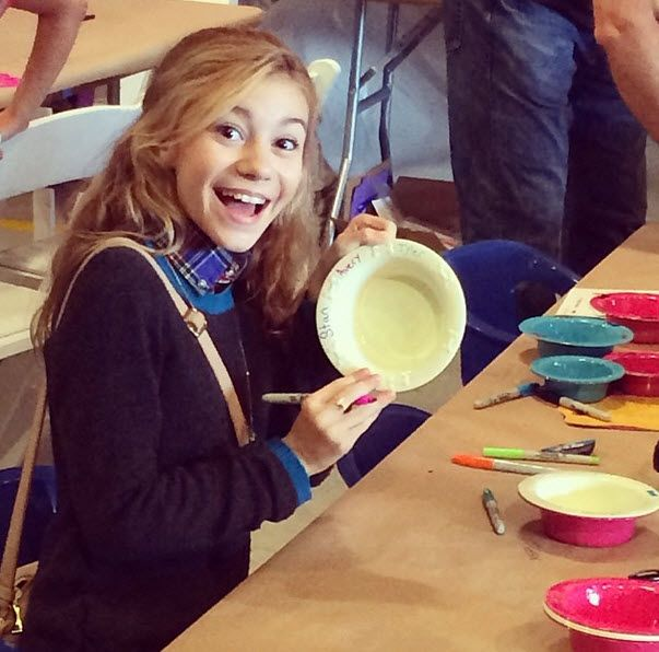 G Hannelius having fun at the P.S. Arts event November 17, 2013