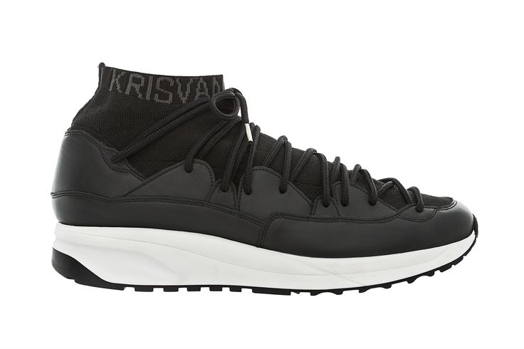 "Kris Van Assche has unveiled a new sneaker silhouette for KRISVANASSCHE, named the ""Wave."" Featuring three colorways, the silhouette boasts a high-top knitted sock lining with KRISVANASSCHE labeling,..."