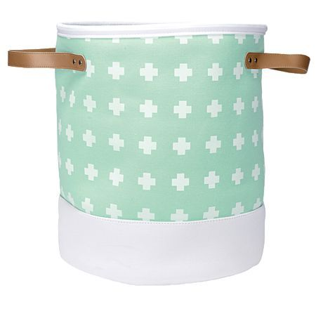Living & Co Cross Hamper Round Mint Large