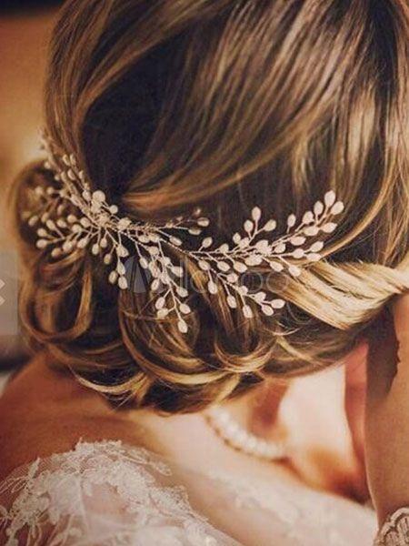Hochzeit Schleier für Damen 2019 Brautkleider&Accessoires Haarschmuck Elfenbein Perlen Legierung Braut Kopfschmuck