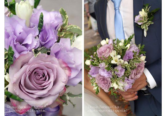 Baiciurina Olga's Design Room: Бело-сиренвый букет невесты с суккулентом-Violet&white succulent wedding bouquet