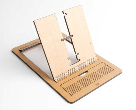 $17 for a Wood Laser Cut iPad, Tablet or Book Stand