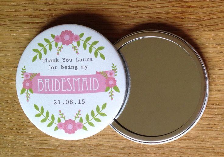 Customised Bridesmaid Pocket Mirror