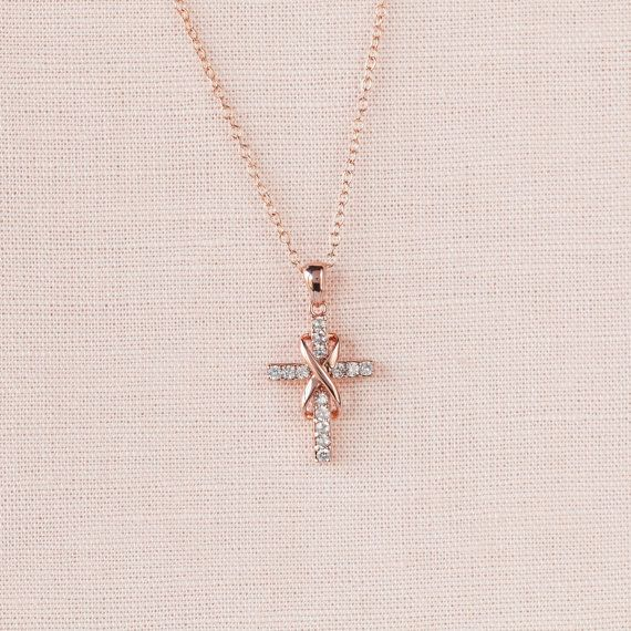 Infinity Cross Necklace Bridal jewelry Wedding by CrystalAvenues