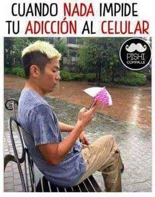 nada impide adiccion celular paraguas