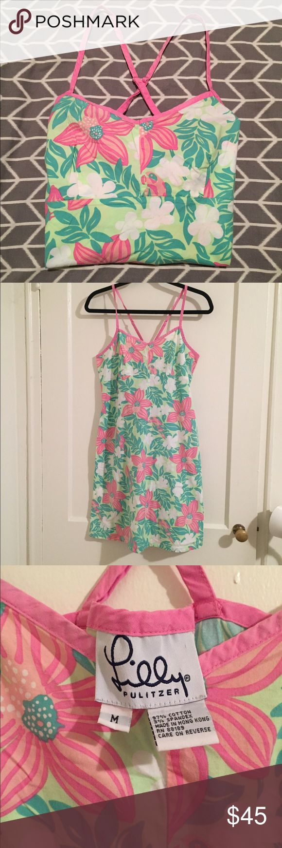 • VINTAGE LILLY PULITZER • dress Vintage Lilly Pulitzer dress! Size M! String straps & cross back! Super cute & excellent condition! Lilly Pulitzer Dresses Mini