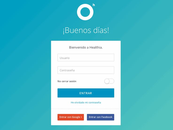 I really like this idea for a login page, it is simple, great use of colours and includes every element.